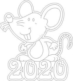 Mouse happy new year 2020