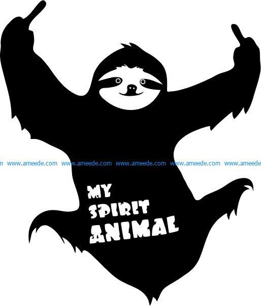 My Spirit Animal T-shirt print image