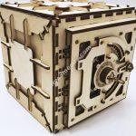 wooden safety deposit box