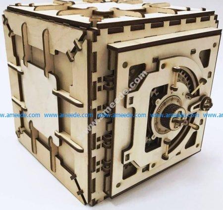 wooden safety deposit box