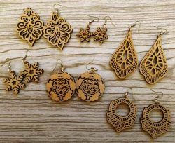 New model laser cut earrings