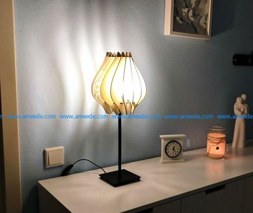 Nightlight with a wooden cage design