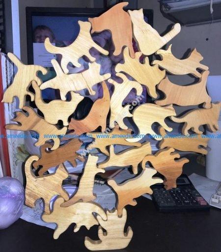 Wooden cat designs