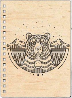 laser cut bear cover