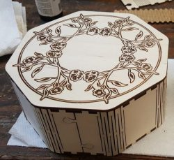 Octagon Box For Laser Cutting