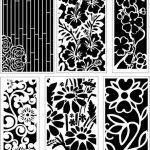 Ornamental flower pattern baffles