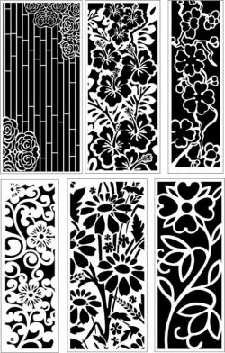Ornamental flower pattern baffles