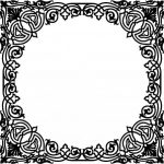 Ornamental painting with square mirror frame