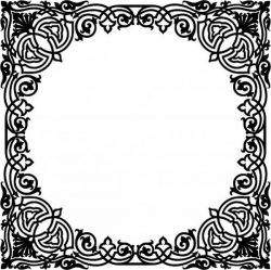 Free design vector file download for CNC and Laser Ornamental painting with square mirror frame