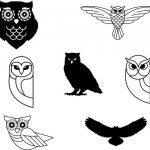 Owl design vector design file for decoration