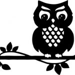 Owl template for Cricut Silhouette Digital Decal Clipart Wedding Decoration
