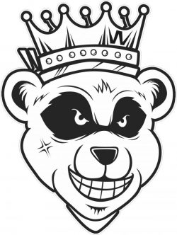 Panda king with crown