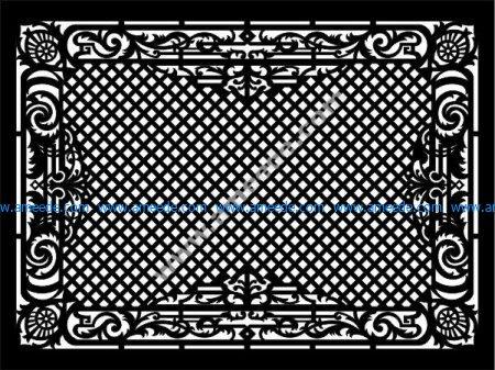 Panel screen vector