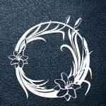 Paper cut wreath design template