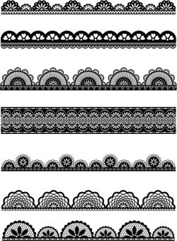 Patterned designs designed to make decorative borders