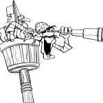 Pirate with binoculars