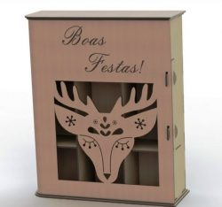 Reindeer gift box file .cdr and .dxf free vector download for Laser cut plasma