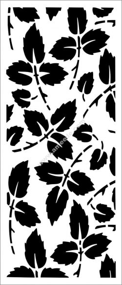Rose leaf pattern partition