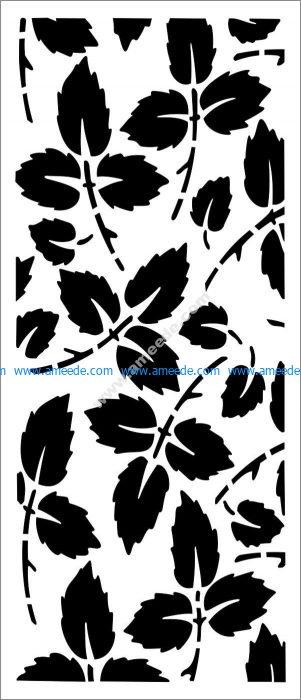 Rose leaf pattern partition