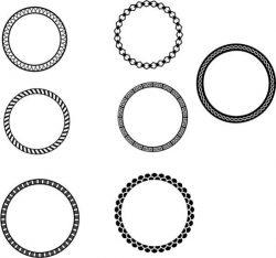 Set of beautiful circular borders