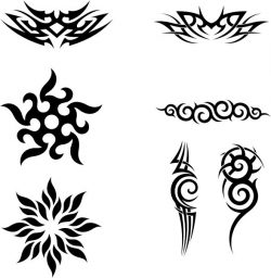 Sharp designs of some common tattoos