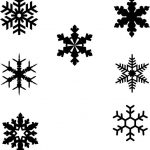 Snowflakes designs to decorate the Christmas tree