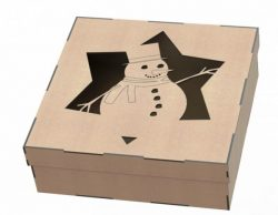 Snowman gift box file .cdr and .dxf free vector download for Laser cut plasma