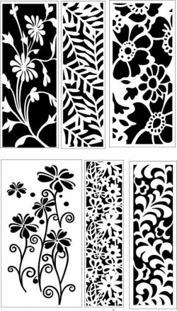 Spring floral screen decoration