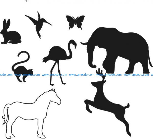 Summary of some vector brush strokes about the animals