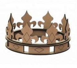 The crown is made of wood