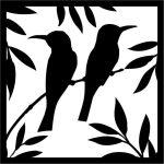 The frame has 2 birds