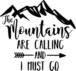 The wountains are calling and i must go t-shirt print image