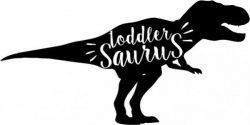 Toddler saurus t-shirt print image