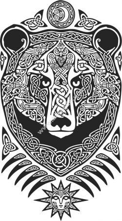 Vector bear art