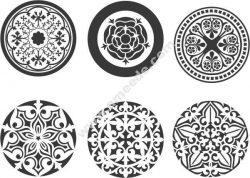 Vector circle ornament