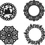 Vector circle ornament texture