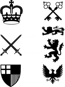 Vector coat of arms of ancient roman times