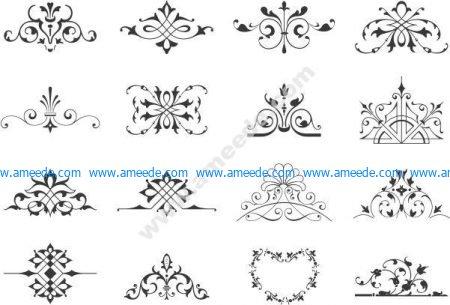 Vector decorative cali vignette