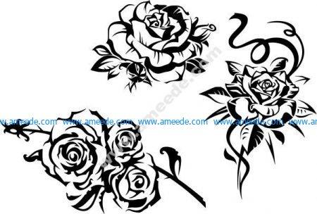 Vector decorative rose