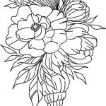 Vector engraving pattern of snails and flowers