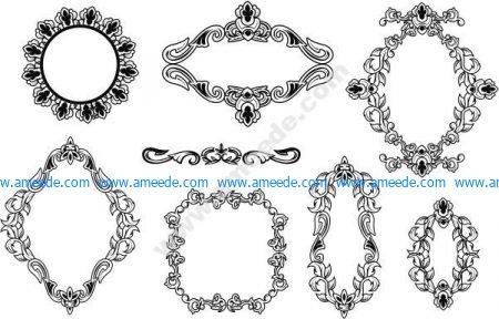 Vector ornament frame