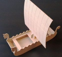Viking boat model