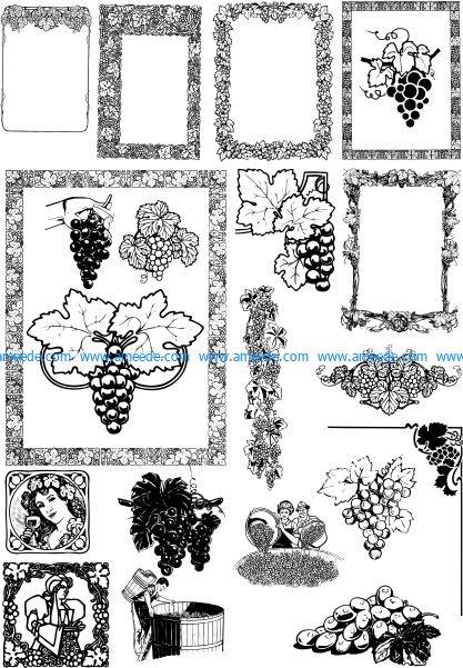 Vine design frame style
