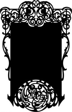 Vintage style mirror frame  file .cdr and .dxf free vector download for CNC cut