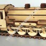 Laser cut steam train