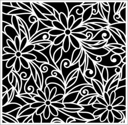 Wall paintings of flowers  file .cdr and .dxf free vector download for Laser cut plasma