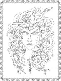 Woman with snake hair