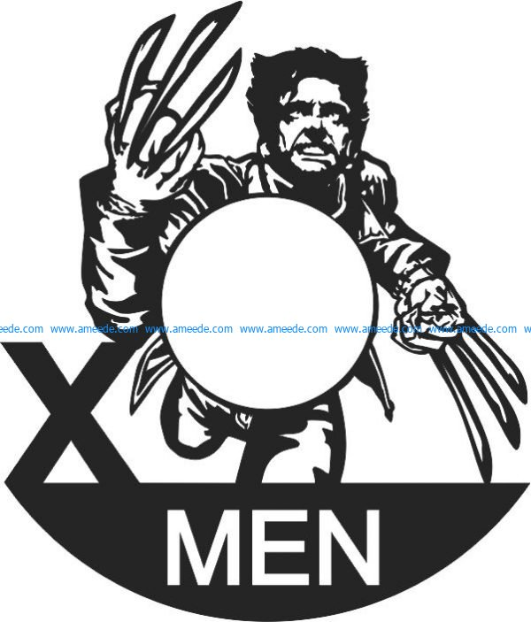 Xmen wall clock