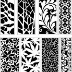 baffles decorated with unique floral motifs