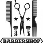 barber shop logo 1998
